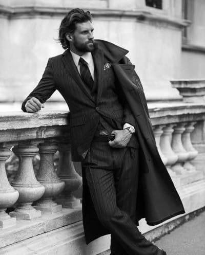 Creative Mens Long Hair Classy Style