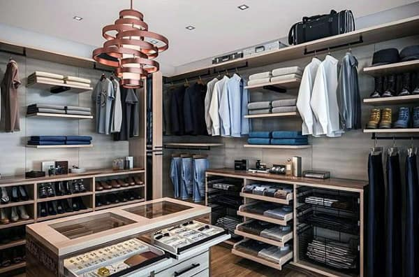 Creative Mens Walk In Closet With Decor Inspiration