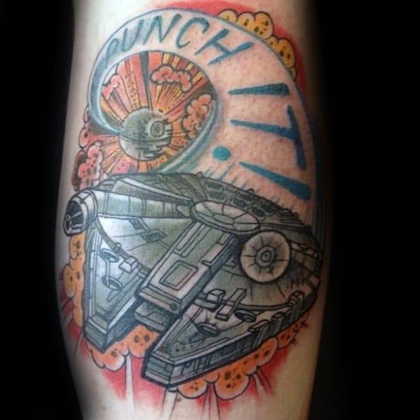 Creative Millennium Falcon Tattoos For Men