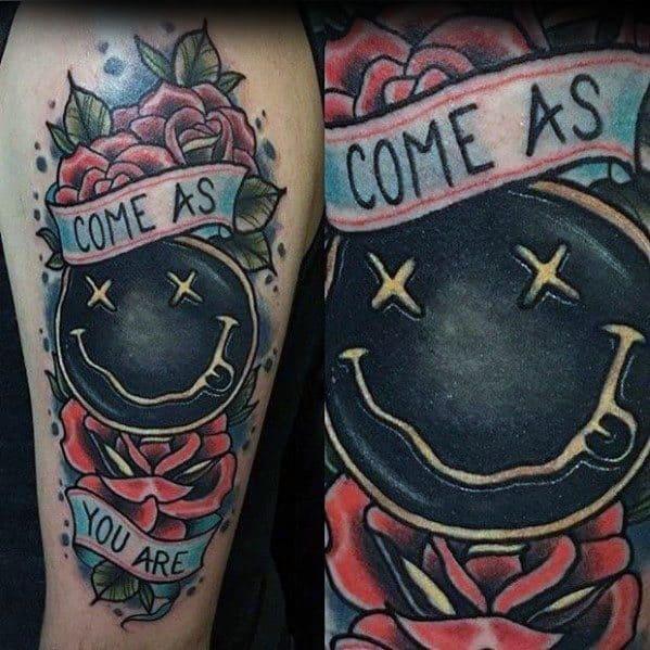 Creative Nirvana Tattoos For Men