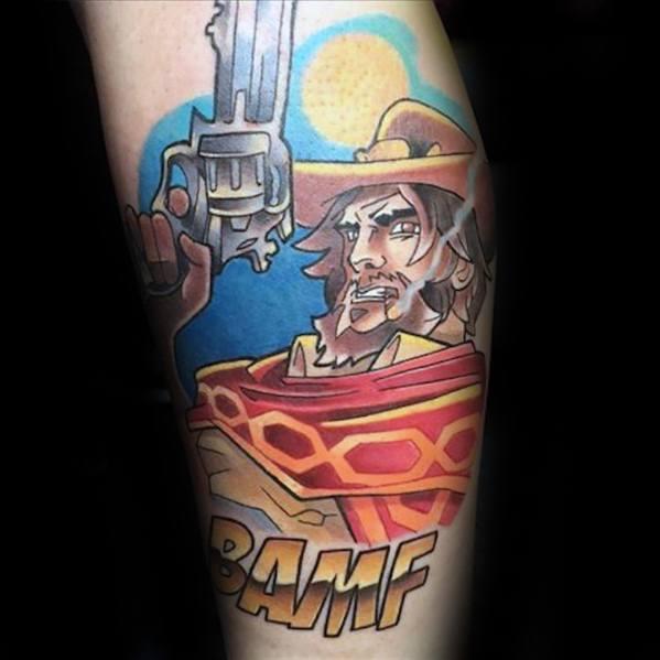 Creative Overwatch Tattoos For Men