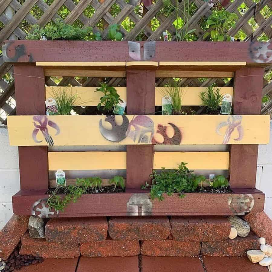creative pallet garden design ideas craft_the_force