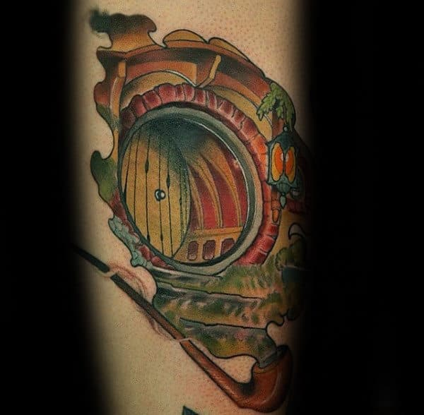Creative Pipe Lord Of The Rings Mens Forearm Tattoo