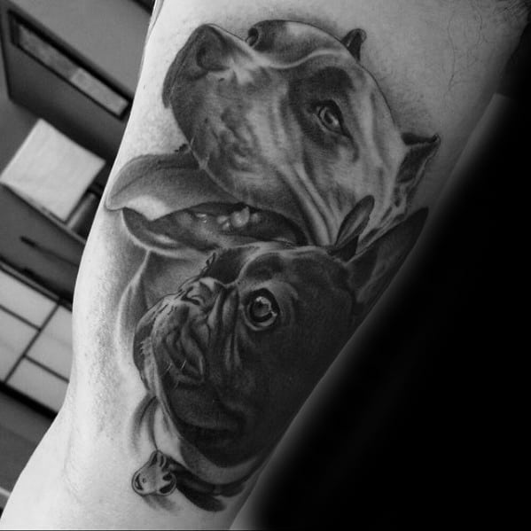 Creative Pitbull Tattoos For Men
