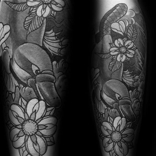 Creative Platypus Tattoos For Men Forearm Sleeve