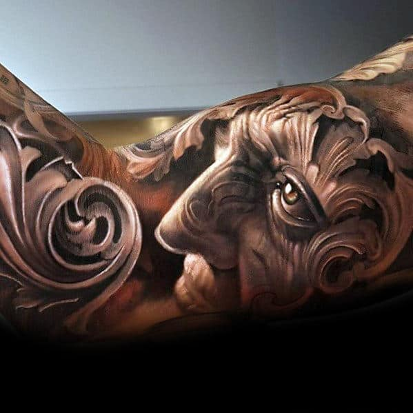 Creative Portrait Unbelievable Guys Detailed Arm Tattoo