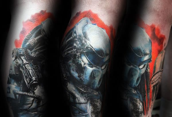Creative Predator Watercolor Guys Forearm Tattoo