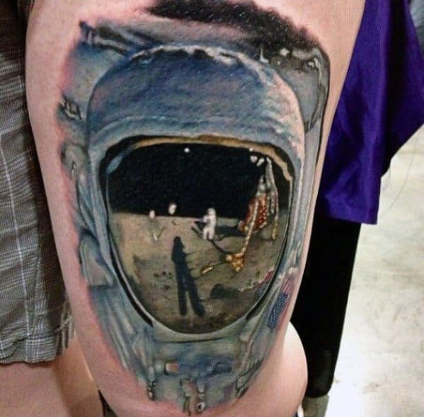 Creative Reflection Tattoos For Guys