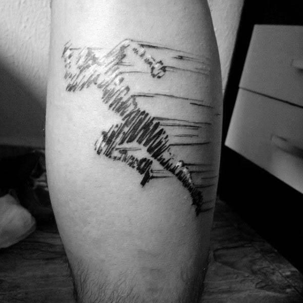 Tatuajes creativos de la pantorrilla de la pierna para hombre de la aptitud que corre