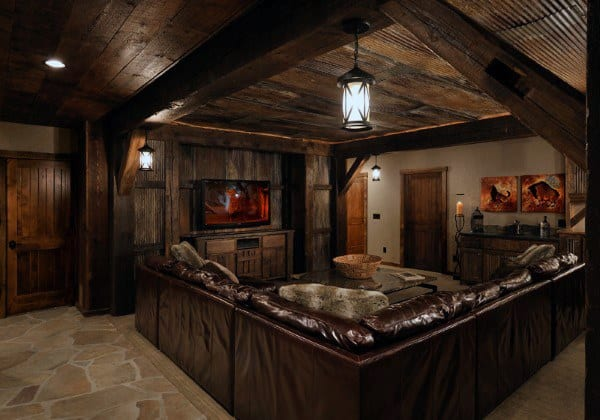 Creative Rustic Ideas For Basement