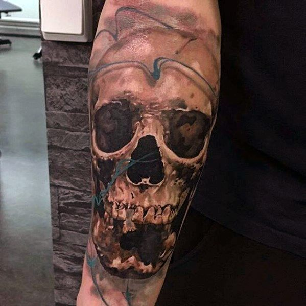 Creative Skull Forearm Greatest Tattoos For Men