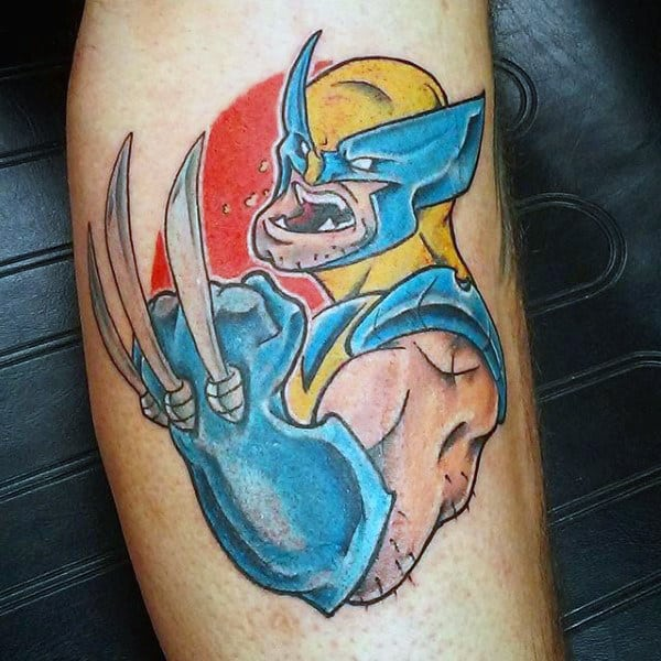 Creative Small Mens Wolverine Arm Tattoos