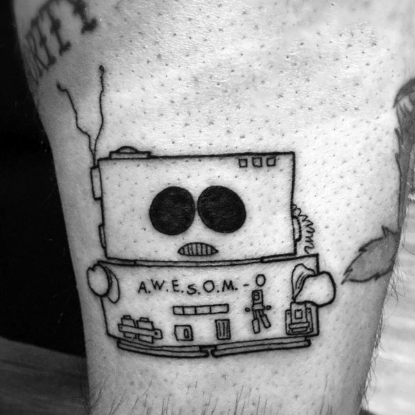 Creative South Eric Cartman Robot Park Tattoos For Guys