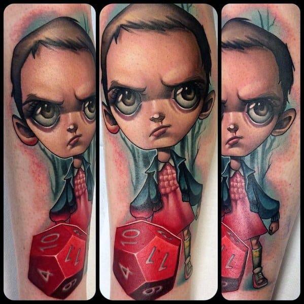 Creative Stranger Things Tattoos For Men