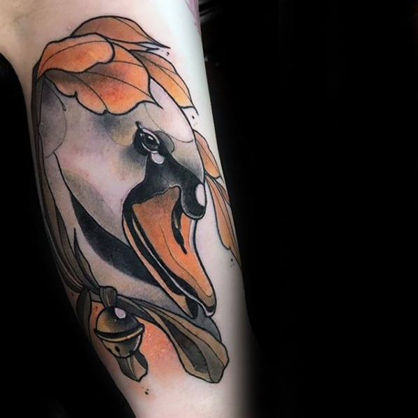 Creative Swan Tattoos For Men