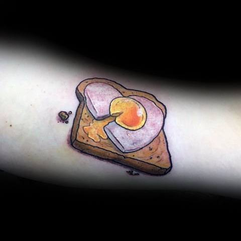 Creative Toast Tattoos For Guys