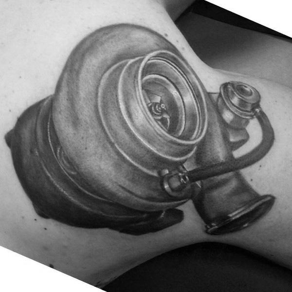 Creative Turbo Tattoos For Guys