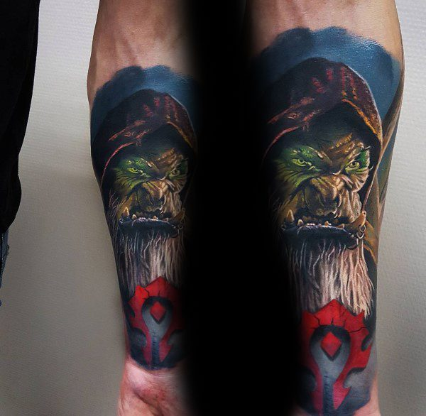 Creative World Of Warcraft Tattoos For Guys