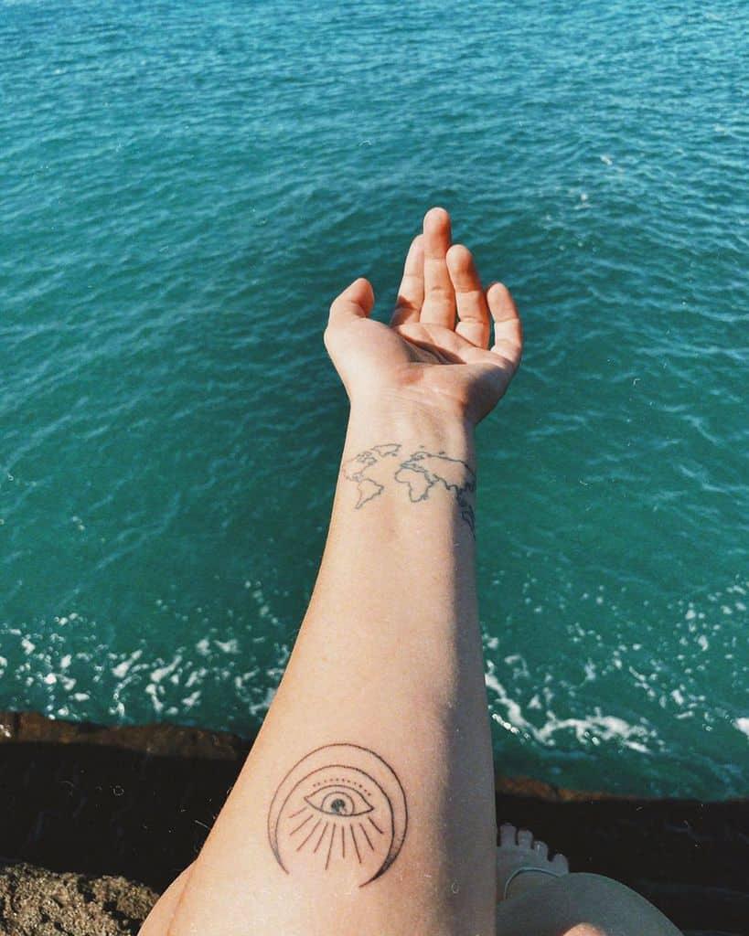 Crescent Third Eye Tattoo