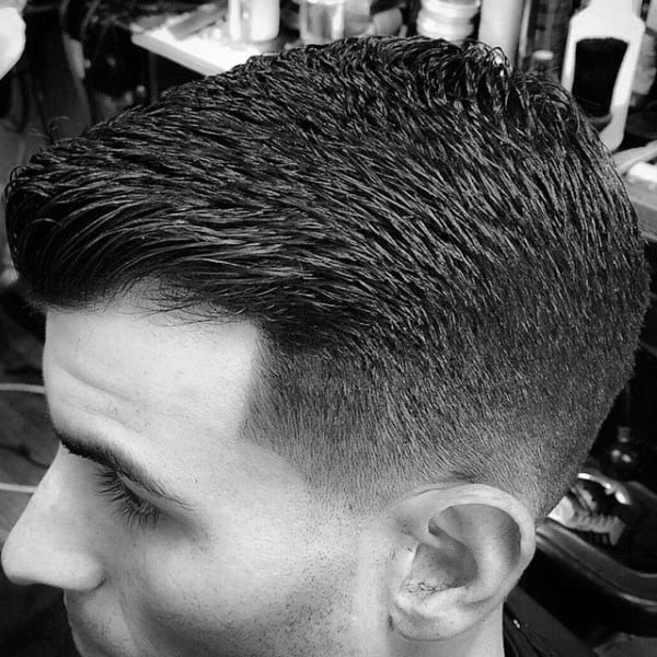 Crew Cut Fashion Foward Haircuts Taper Fade For Guys