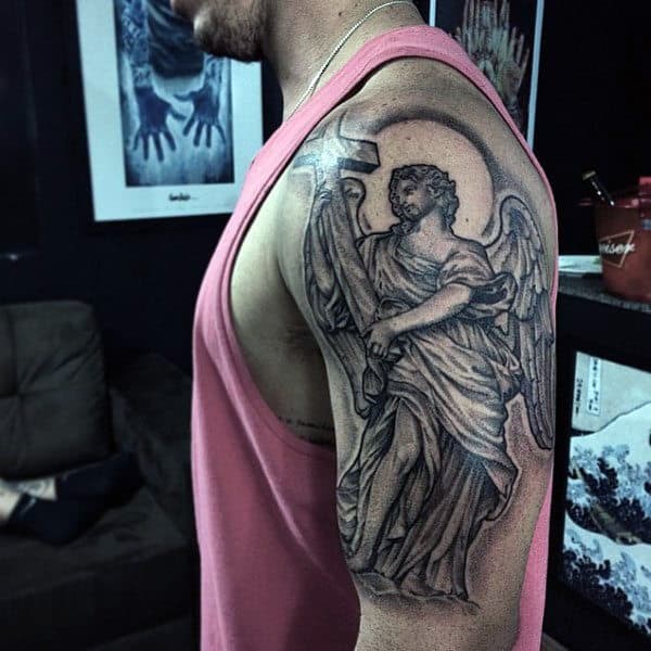 Cross Angel Tattoos For Men