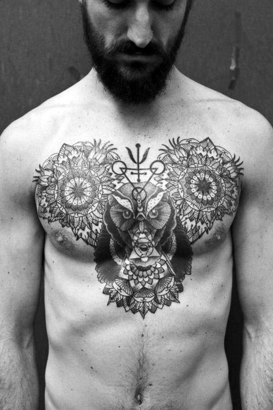 Cross Chest Tattoos For Men