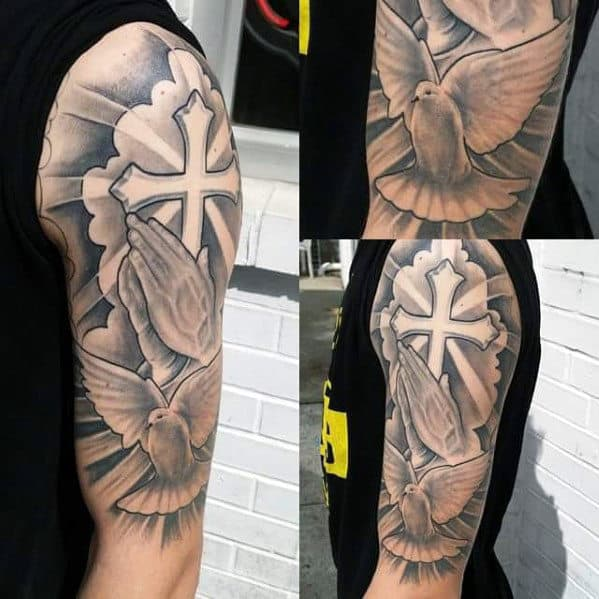 Cross Tattoo Designs For Men On The Arm