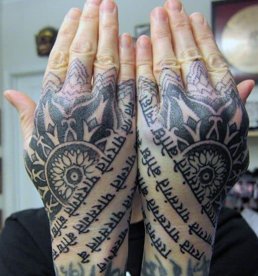 Wording Tattoo On Hand