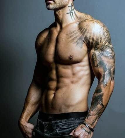 cross-tattoo-on-neck-for-men