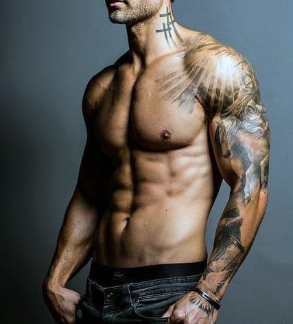 Cross Tattoo On Neck For Men