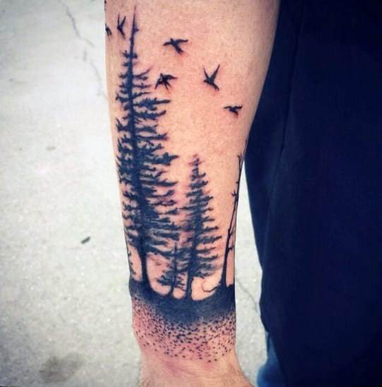 Tress Tattoos For Men On Forearm