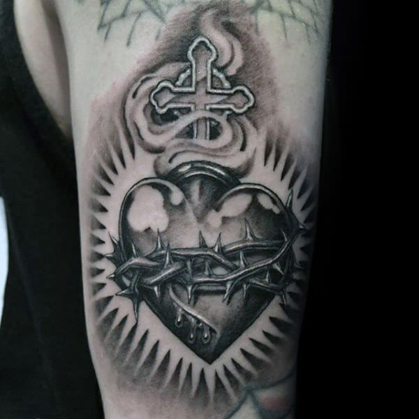 100 Sacred Heart Tattoo Designs For Men