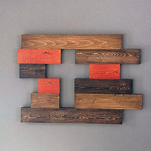 Cross With Wood Boards Diy Man Cave Ideas
