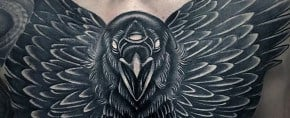 100 Crow Tattoo Designs For Men – Black Bird Ink Ideas