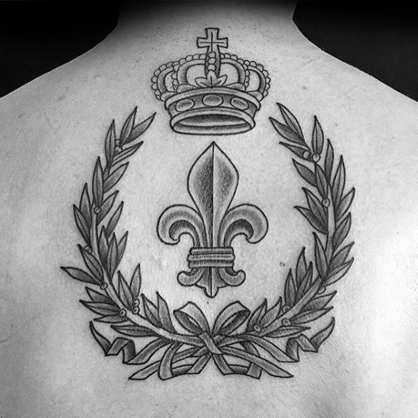 Crown Laurel Wreath Laurel Wreath Male Tattoo Ideas On Back