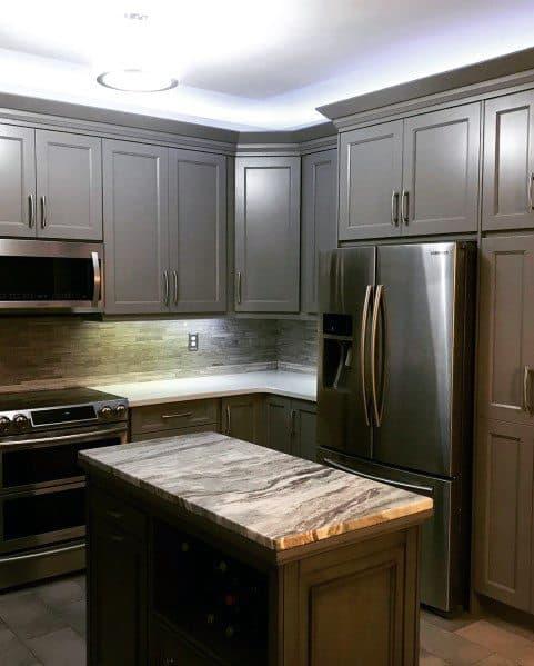Crown Molding Led White Kitchen Ceiling Lighting Interior Ideas