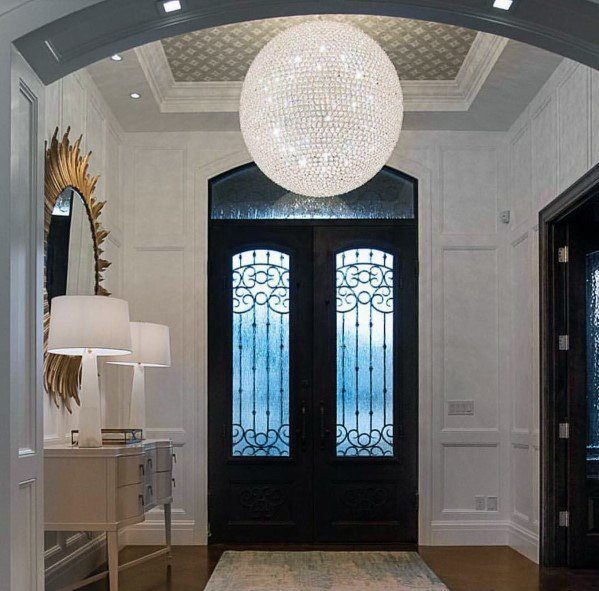 Crystal Ball Chandelier Design Ideas For Foyer Lighting