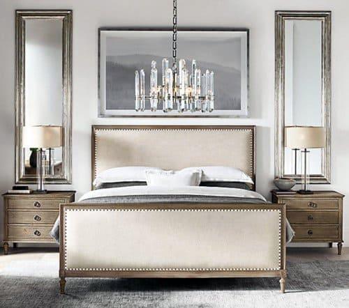 Crystal Chandelier Cool Bedroom Lighting Design Ideas