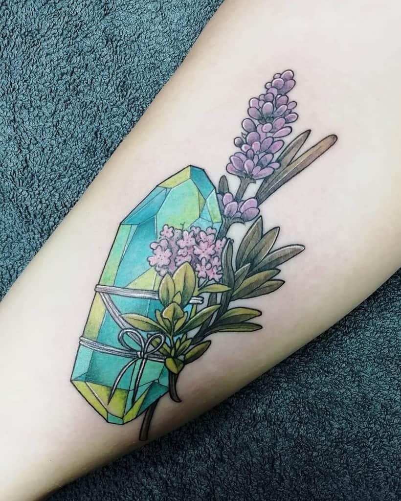 Crystal Lavander Tattoo