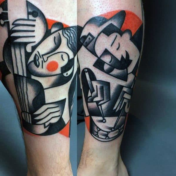 Cubism Tattoo Design Ideas For Males