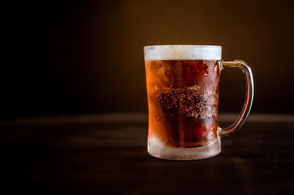 cup of cold beer close up