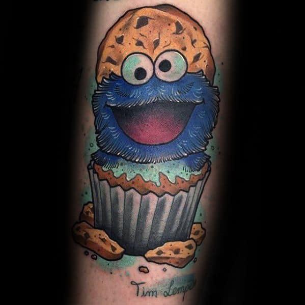 30 cookie monster tattoo designs for men muppet ink ideas. Black Bedroom Furniture Sets. Home Design Ideas