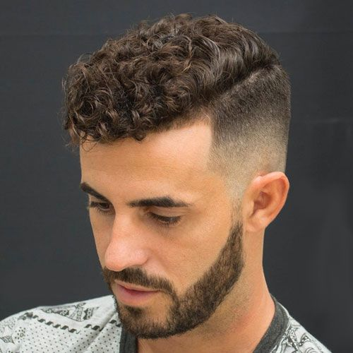 Curly Bald Fade haircut