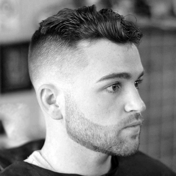 Curly Hair For Men With Skin Fade Hairstyle On Sides