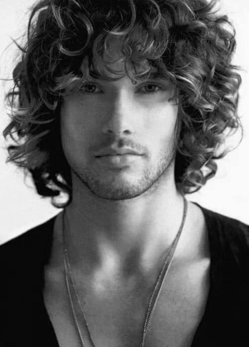 50 Long Curly Hairstyles For Men Manly Tangled Up Cuts
