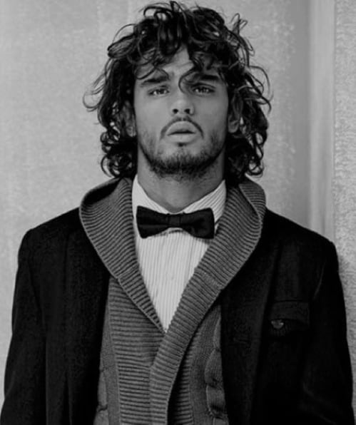 Curly Long Hairstyle For Men