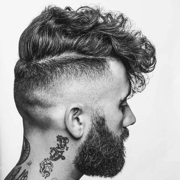 Curly Mens High Fade Hair Style
