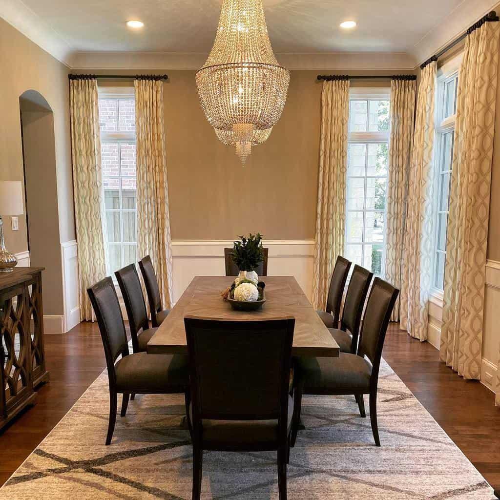 curtain dining room ideas gotchacoveredofparkcities