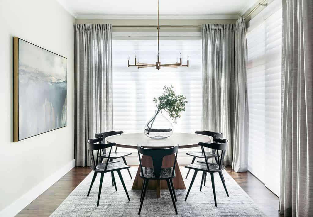 curtain dining room ideas smithericksondesigns