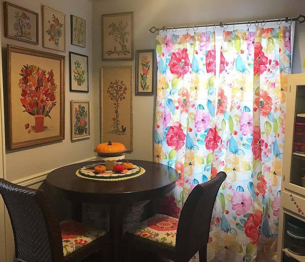 curtain dining room ideas sweetiedeervintage